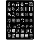 Template for stamping nail art with engraved motifs - 006, XL