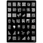 XL Plate in A5 size for stamping nail art, 004
