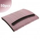50pcs box - Professional nail file, black banana, pink centre 100/100