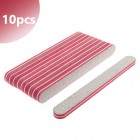 10pcs pack - Nail file with red double centre, zebra - 80/80