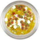 Honey-gold confetti - aqua element hexagons