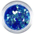 Hexagons, aqua elements - blue