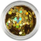 Holographic hexagon for decoration - golden, 2mm