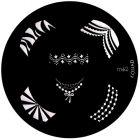 Nail stamping plate m62 - various shapes