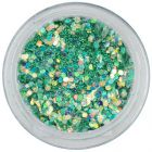 Turquoise-green hexagon, 1mm - holographic