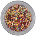 Holographic hexagons - 1mm confetti in dark red powder