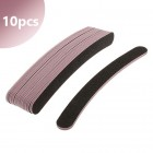 10pcs - Nail file black with pink centre - banana, 80/80