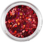 1,5mm holographic hexagon for nail art - red