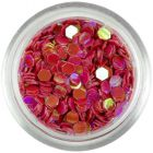 3mm dark red hexagons with reflective effect