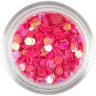 Decorative confetti - 3mm coral red hexagons