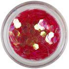 Light red hexagon - aqua elements