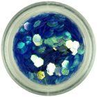 Blue hexagon - aqua elements