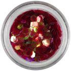 Hexagons aqua elements - red