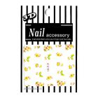 3D nail art stickers - flower bouquet and butterflies