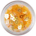 Transparent Confetti with Hole - Orange Squares