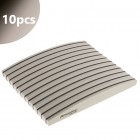 10pcs - Nail file Profi Sponge Halfmoon Zebra with black centre 220/280