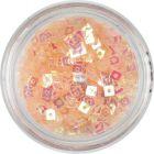 Confetti with Hole - Light Peach Squares