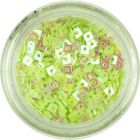Nail Decoration - Small Light Green Squares with Hole