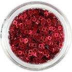 Small Squares with Hole - Dark Red