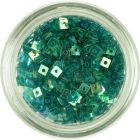 Small Square with Hole - Turquoise Green