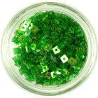 Transparent Confetti with Hole - Small Green Squares