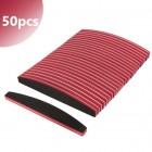 50pcs - Halfmoon nail file with red centre, 100/180