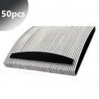 50pcs - Professional nail file, black, half moon 100/180