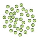 Green decorations for nails, 1 mm - round rhinestones in sack, 60pcs