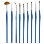 Nail brushes, 9pcs - blue