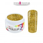 UV Gel, coloured - Gold Glitter 5g