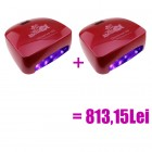 2 x pink-red LED UV lamp - 66W