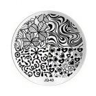 Nail art stamping plate - JQ-43