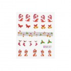 Nail art water decals with Christmas motif - 027