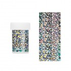 Decorative nail foil - silvery with round holographic reflections