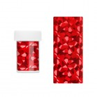 Decorative nail foil - red with reflections of asymmetric shapes