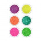 Nail art kit 6pcs - big glitters, 5g