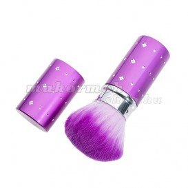 Closable nail dust removing brush – violet