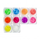 Nail art kit – 10pcs – neon circles 2mm