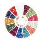 Nail art decorations – stones diamonds – various colours, 3mm