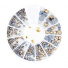 Nail art decorations - rhinestones mix - gold