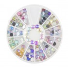 Nail art decorations - stones 4mm - various colours with AB effect