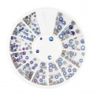 Nail art decorations - stones mix - blue