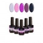 Kit of 5 high-quality gel nail polishes 2in1 - glittering