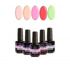 Kit of 5 high-quality gel nail polishes 2in1 - pastel