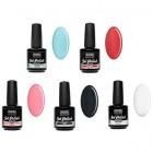 UV gel polish - 5pcs kit - pastel