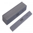 10pcs - Nail file, grey rectangle with black centre, washable and disinfectant friendly 80/80