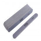10pcs - Nail file, grey board with black centre, washable and disinfectant friendly 100/180