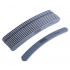 10pcs - Nail file, grey banana design with black centre, washable and disinfectant friendly 100/180