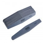 10pcs - Nail file, grey diamond with black centre, washable and disinfectant friendly 100/180