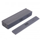 10pcs - Nail file, grey rectangle with black centre, washable and disinfectant friendly 100/180